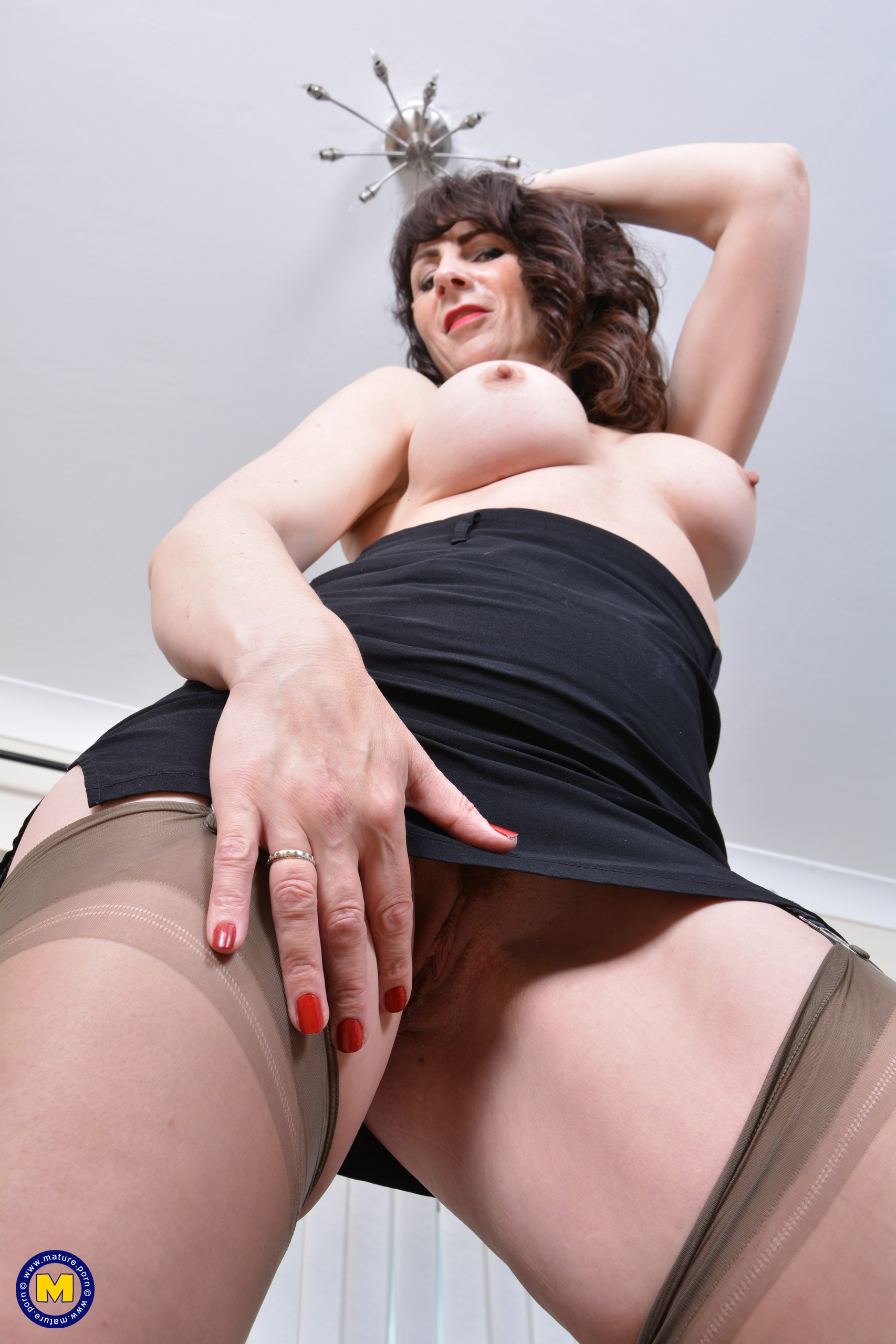 Nasty Brit housewife getting moist and nasty